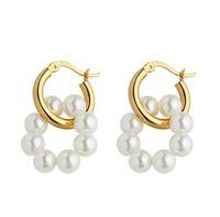 Earrings silver earring Hoop & Huggie pearl fashion accessories party jewelry wholesale price