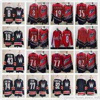 2021 Reverse Retro Ice Hockey Jerseys Alex Ovechkin Jakub Vrana Nicklas Backstrom Henrik Lundqvist Tom Wilson John Carlson Oshie Evgeny Kuznetsov 세 번째 어두운 파란색