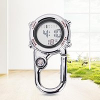 Outdoor Gadgets Digital Carabiner Watch With Compass Alarm Clock Date Climbing Hanging Clip Backpack Belt Pocket On For