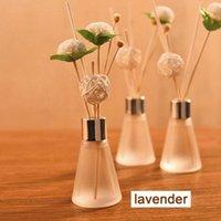 No-Fire Rattan Lavender Rose mar Lily difusores de baño Botella de vidrio Botella de cristal Lámparas de fragancia