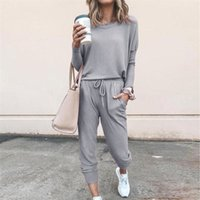 Hirigin Autumn Women Casual Leisure Pants and Top Set 2piece...