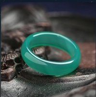 2021 New Style chalcedony Black Blue White Yellow red green Four colour Jade Ring for men and women Couples Ring free ship ping V1