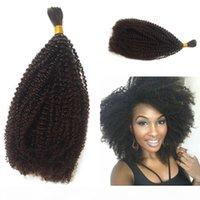 Pelo a granel mongol AFRO Kinky A granel rizado para trenzar Extensiones de cabello humano 8-26 pulgadas en stock FDshine