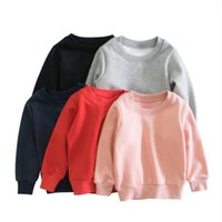 Baby Boys Girls Hoodies Sweatshirts Long Sleeve Pullover Sweater Autumn Solid Color Clothes 6 Colors Optional BT6723
