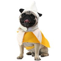 Dog Apparel 1PC Funny Pet Costume Banana Clothes For Small Coat Jacket Vest Chihuahua Halloween Festival Dress Up Cosplay