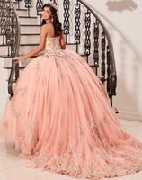 Sweetheart Quinceanera Dresses with Beaded Applique Ball Gown Sweet 16 Prom Dress Lace Up Back Long Tulle Girls' Specail Occasion Wear