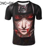 Itachi Uchiha T Gömlek erkek Ninja T-shirt Naruto Kardeş Tişörtleri İnanılmaz Popüler Tops Siyah Tees Japanuykm {Kategori}