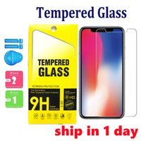 Screen Protector For iPhone 13 12 Mini 11 Pro XS Max XR 8 7 Plus Samsung A51 A71 LG Stylo 5 Tempered Glass with Package