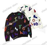 21SS designers Sweaters de luxe Mens femmes Jacquard Lettres irréguliers Imprimer homme Paris Fashion Tee Top Qualité Tees Tees Street Luxurys Bleu Grey
