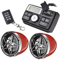 Motorcycle Bluetooth Speaker Stereo Car Audio System Waterproof Hands Free TF FM Radio USB Dual Channel