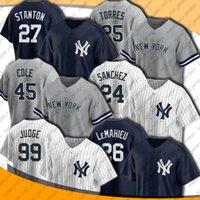 Yankees 99 Aaron Jussey Jersey New 45 Gerrit Cole Jerseys York 26 DJ Lemahieu Gary Sanchez Jersey Gio Urshela Gleyber Torres Stanton Jerseys