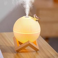 Fragrance Lamps 300ml USB Ultrasonic Cool Mist Maker Air Humidifier With Warm LED Lamp For Home Kids Room Mini Aroma Diffuser Humidificador