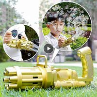Kids Automatic Gatling Bubble Gun Toys Summer Soap Water Bubble Machine Electric For Children Gift Toys 59