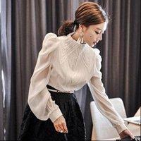Zawfl retrò camicie da donna a pieghe a pieghe a pieghe a pieghe a piumino a soffiaggio lungo camicetta bianca lunga camicetta vintage in cotone top moda donna camicia manica lanterna