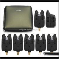 Fischfinder Lixada Wireless Fishing Bissalarme Set Receiver Sound Alert Kit LED Alarmanzeige Tragbare Fall Dobbg Xbhzi
