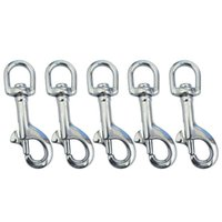 Dog Collars & Leashes 5Pcs Stainless Steel 70Mm Scuba Diving Clips, Swivel Eye Snap Hook Dive Single Ended Bolt Buckle Clip