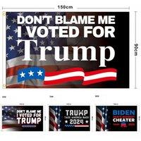 Nowy Trump 2024 Flaga wyborcza USA wybory prezydenckie poliester odkryty tapicerka 90 x 150 cm / 3x 5 stóp