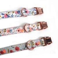 Coleiras de cão de fonte de estimação com gravata borboleta simples pano de algodão floral para cães pequenos EEB6014