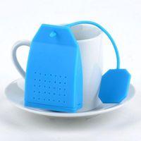 Toptan Kahve Çay Araçları Çanta Stil Silikon Süzgeci Bitkisel Baharat Demlik Filtre Difüzör Mutfak DDA5884