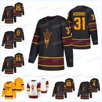 Arizona State Sud Sun Devils Collège Hockey Jersey Tyler Busch Justin Robbins Joshua Maniscalco Jarrod Gourley Dominic Garcia Demetrios Koumontzis Brinson Pasichnuk