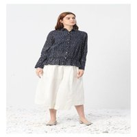 Women's Blouses & Shirts Giyu 2021 Fashion Lettered Print Women Turn-down Neck Long Sleeve Button Tops Casual Loose Size Blouse 2002