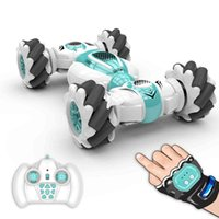S-012 RC Stunt Car Remote Control Watch Gture Sensor Electric Toy Cars 2.4GHz 4WD Rotation Gift for Kids Boys Birthday