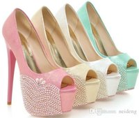 2021 white and green Peep Toe Wedding Shoes Colorful Rhinestone Bride Dress Shoes High Heeled Summer Sandals Wedding Banquet Shoes