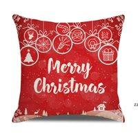20 색 장식 베개 크리스마스 할로윈 베개 45 * 45cm 사용자 정의 산타 인쇄 된 기울고 베개 케이스 쿠션 HWF10286