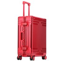 가방 100 % 알루미늄 여행 가방 금속 Mala de Viagem Bavul Spinner 휴대용 수하물 Valise Trolley Maleta Cabina 비즈니스 Koffer
