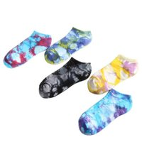 Men's Socks Est Design Fashion Tie Dyed Low Cut Running Cotton Unisex Sports