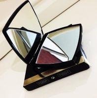 Designer de luxo fazer duplo espelho lupa cosmético dobrável portátil espelhos compactos têm caixa + saco com logotipo