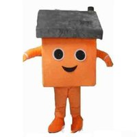 Professional Orange House Mascot Costume Halloween Christmas Fancy Party Dress Cartoon Character Suit Carnival Unisex Adults Outfit