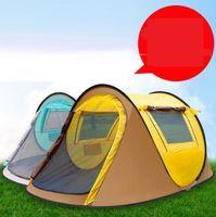 Jeter la tente pop up 2-3 personne de plein air abris automatiques Double couches de grandes tentes familiales étanche camping randonnée à baldatage