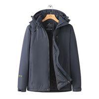 Mans Ceket erkek Açık Dağcılık Takım Elbise Peluş Kalınlaşmış Saldırı Ceket Rüzgar Geçirmez Su Geçirmez Kayak Sıcak Sonbahar Ve Kış Büyük Pamuk MF03