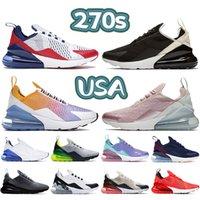 2021 270s mens tênis de corrida EUA Cool cinza azul fúria negra ósso gradiente universidade de ouro Triple Branco homens mulheres Sneakers US 5.5-11