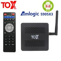 TOX1 Android 9.0 Tv Box Smart 4GB RAM 32GB Amlogic S905X3 Dual Wifi 1000M 4K Media Player high 5g speed