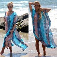 Women's Blouses & Shirts Sundress Kaftan Beach Cover Up Swimwear Bikini Bathing Suit Swimsuit Beachwear Long Maxi Blouse