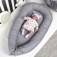 Portable Travel Crib Infant Toddler Removable Baby Nest Beds Solid Color Cotton Detachable Cradle For Born Bed Bassinet Cribs