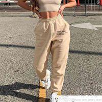 HOT Letter Print Baggy Joggers Sweatpants Women Ladies High Waist Loose Street Hip Hop Casual Sports Pants Harem Trouser Sportswearsoccer jersey