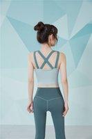 FBF201148 Mujeres Trajes de yoga Verde Cruz Atrás Sujetador deportivo Correr Ejercicio Gimnasio Camisetas