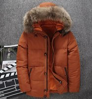 Big fur collar Men's Casual Down Coat Hooded High Quality Down Jacket Fashion Thicken Warm Faction Parker Outdoor Sports Mountaineering Wear--0230