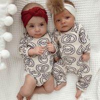 Baby Rompers костюм летние младенческие треугольники ползунки oneies с длинными рукавами дети одежда мальчик девушка чисто белые полные размеры в наличии