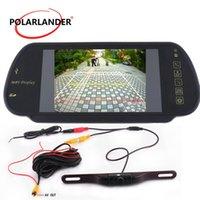 カービデオデスクトップLED逆カメラ7インチTFTスクリーンパーキングモニタ無線送信機480 * 234 GPS長期プレートナイトビジョン