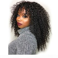 Curly Short Bob Wigs Human Hair with Bangs perruque longue cheveux humain Cheap Afro Curly Human Hair Wig