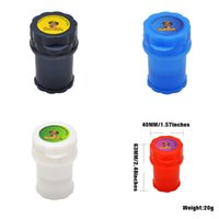 HONEYPUFF 2IN1 Container 3 Parts bag Plastic Herb Grinders Secure Smoking Hand Muller