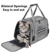 Portadoras de gatos Bolsas transpirables Pequeñas Caja de perro PET Bolsa transparente Portátil Portátil Pets Outdoor Productos para y Cat Sharriers, Cajeras