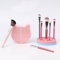 Silicone Makeup Brush Cleaner Storage Pad Foundation Beauty Cosmetic Brush-Scrubber Board Washing Cleaning Mat Gel Hand Tool