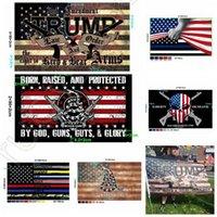 NUOVA Bandiere America Emendamento 90 * 150 cm Polizia 2a Trump Bandiera Bandiera Banner Banner USA Gadsden Bandiera Elezione DHL Presidente Stati Uniti Bandiera statunitense FWF8438