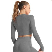 Yoga Outfits LUKITAS Women Seamless Tops Shirts Long Sleeve Workout Gym Fitness Running T-Shirts Clothing Sportswear