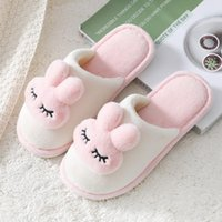 Slippers 2021 Cute Soft Fuzzy Women Winter Warm Faux Fur Slides Plush Indoor Bedroom Non-Slip Flat Shoes